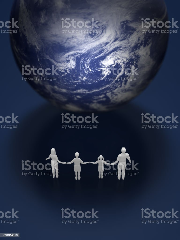 3D illustration of the earth stock photo