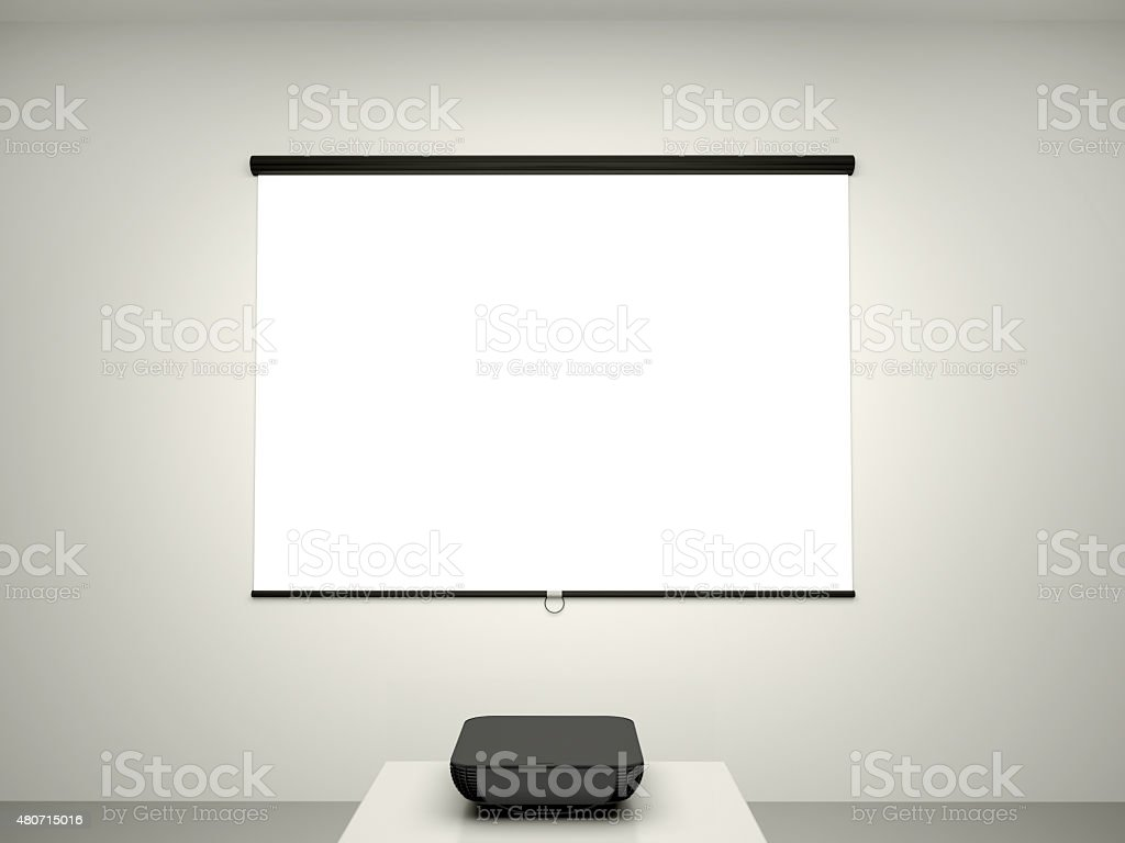 illustration of the presentation screen stock photo