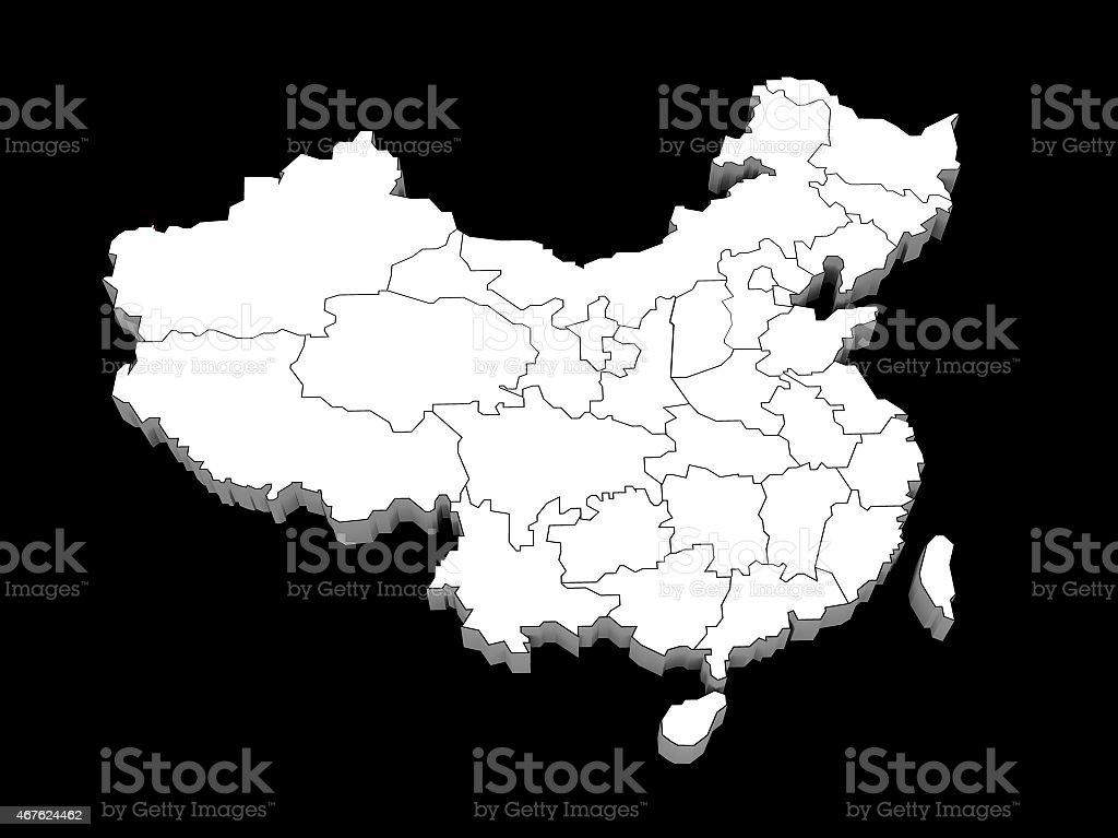 illustration of the provinces china stock photo