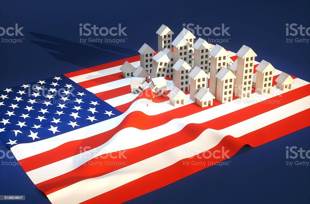 Illustration of United States real-estate development royalty-free stock photo