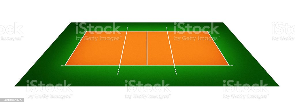 illustration of volleyball court royalty-free stock photo