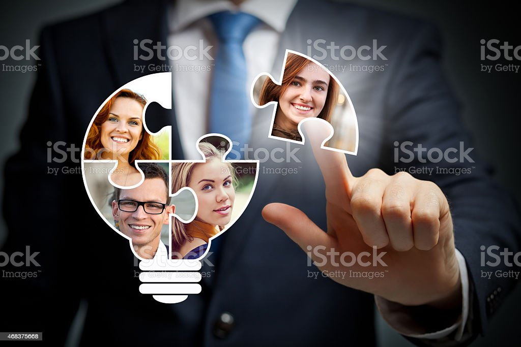 Illustration of what teamwork looks like stock photo