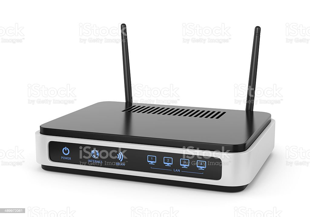 Illustration of wi-fi router stock photo