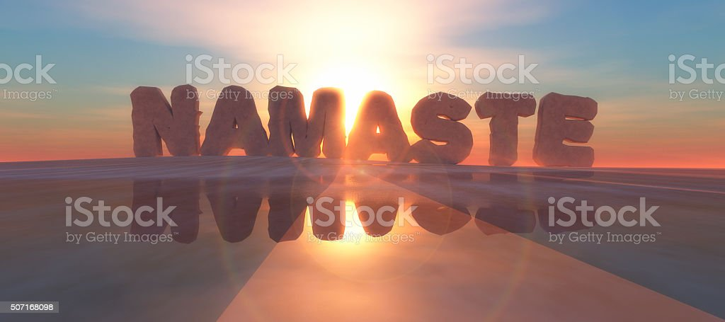 illustration of words on the horizon stock photo