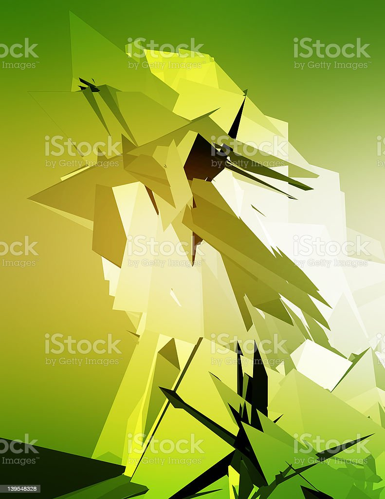 3D Illustration royalty-free stock photo