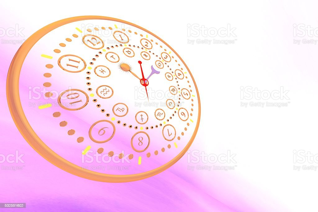 3D illustration, Zodiac signs in different versions, for illustration purposes stock photo