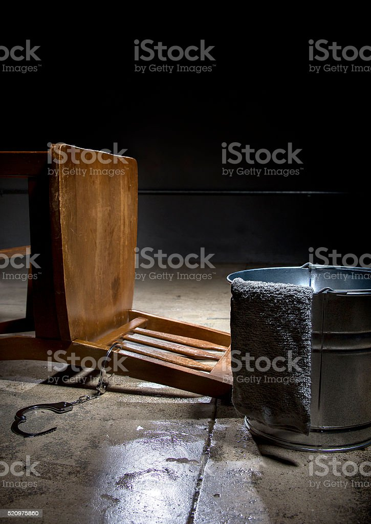 Illustrative Editorial of Controverial Waterboarding stock photo