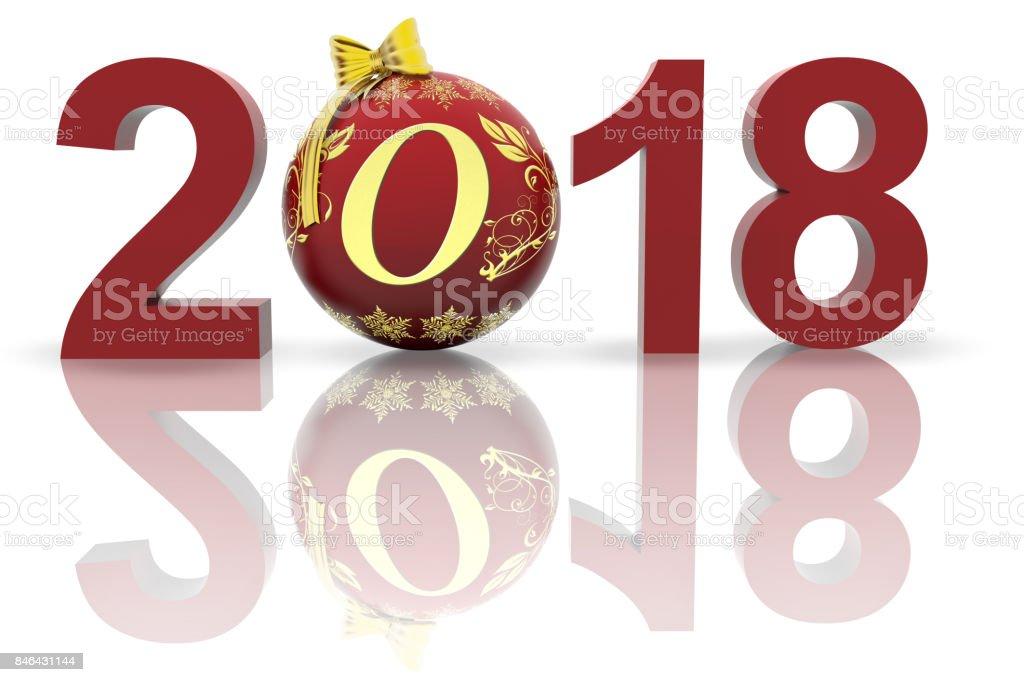 Illustrazione - Video. Capodanno 2018 decorazione Natale'n stock photo