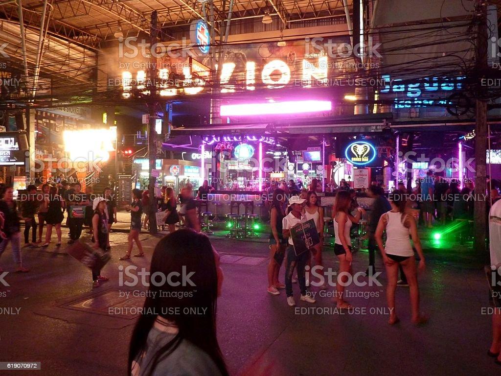 Illuzion discotheque on Bangla road, Patong beach, Thailand stock photo