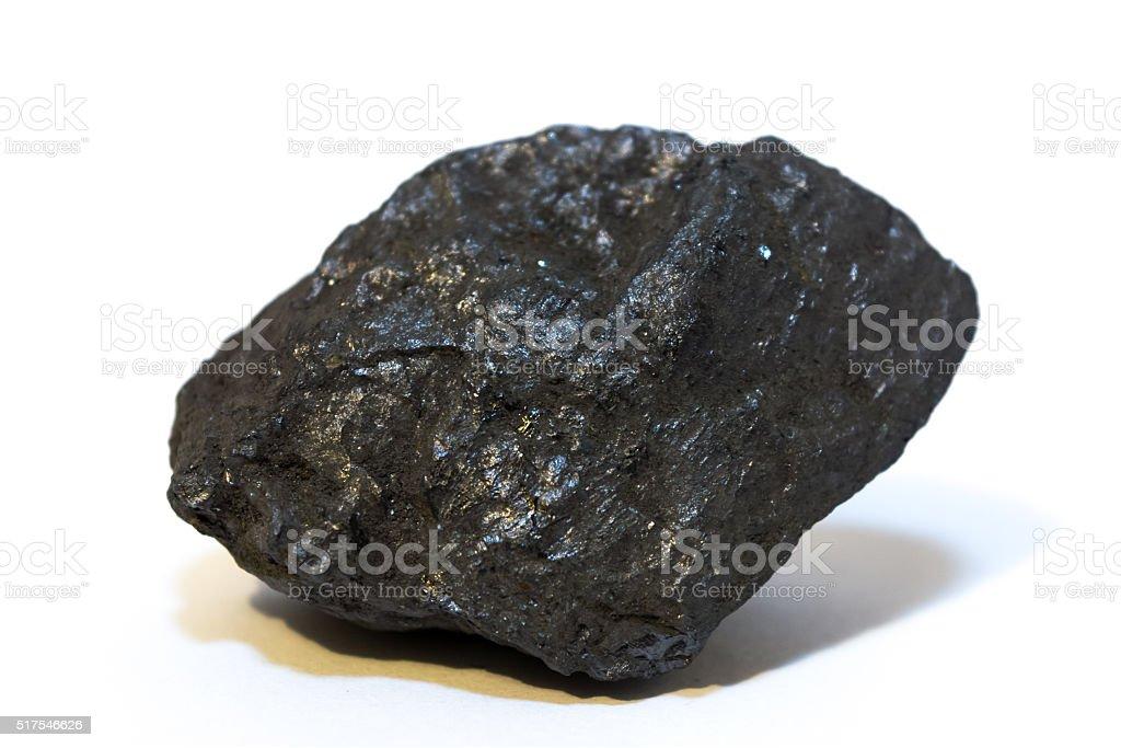 Ilmenite (mineral) isolated on white background stock photo