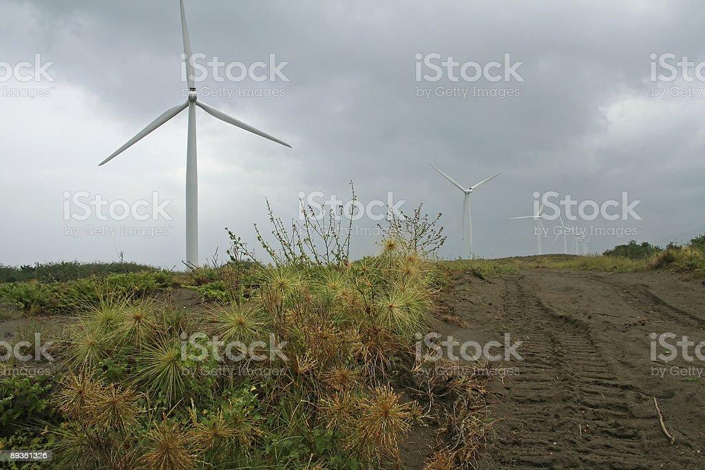 ilocos beach wind turbines philippines royalty-free stock photo