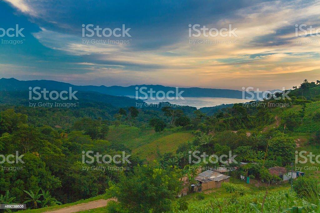 Ilopango lake, El Salvador stock photo