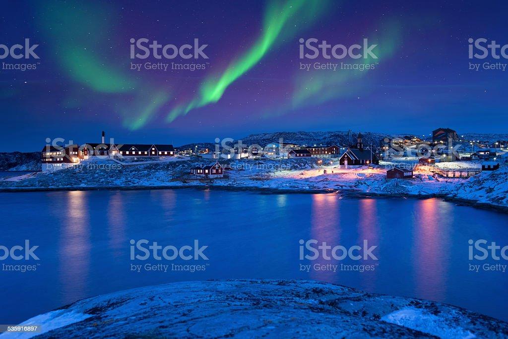 Ilulissat Aurora, Greenland stock photo