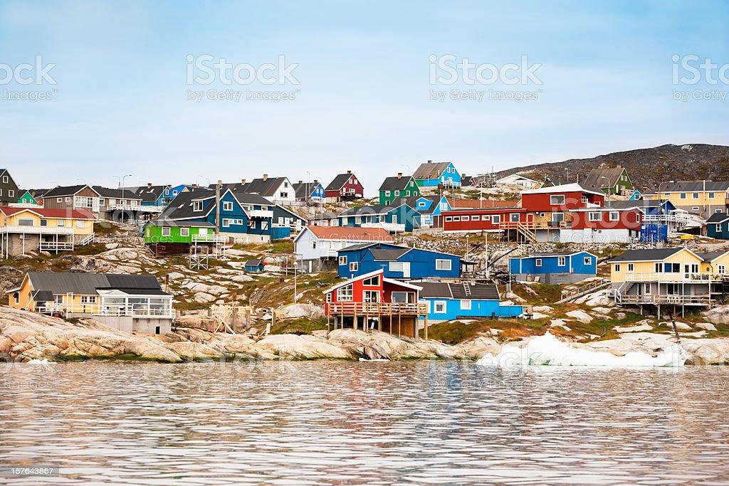 Ilulissat Greenland Houses Seaview stock photo