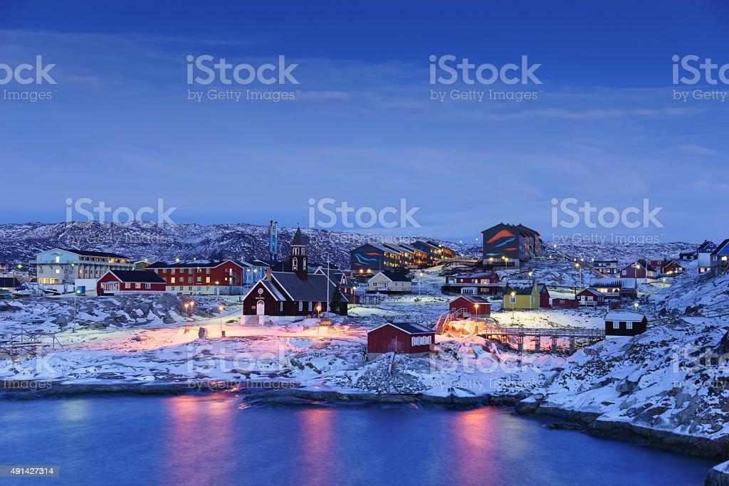 Ilulissat Twilight, Greenland stock photo