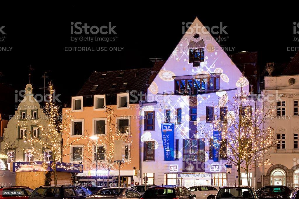 Iluminated House Facades stock photo