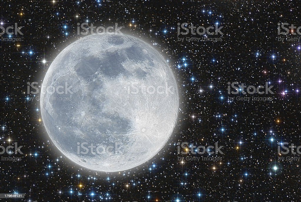 iluminated moon royalty-free stock photo