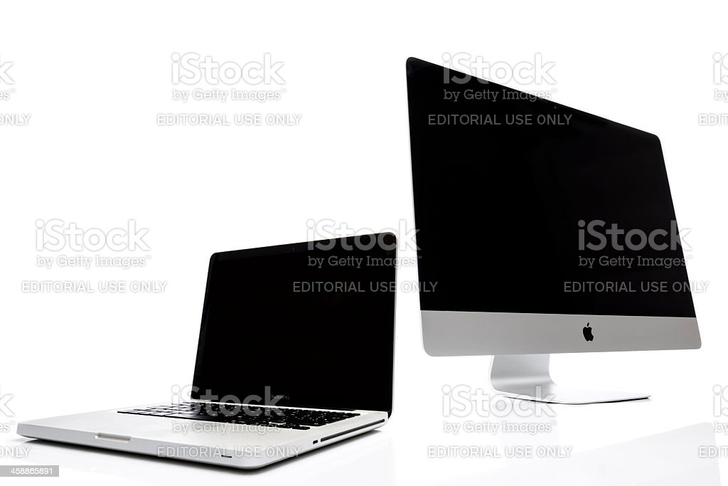 iMac and Macbook Pro royalty-free stock photo
