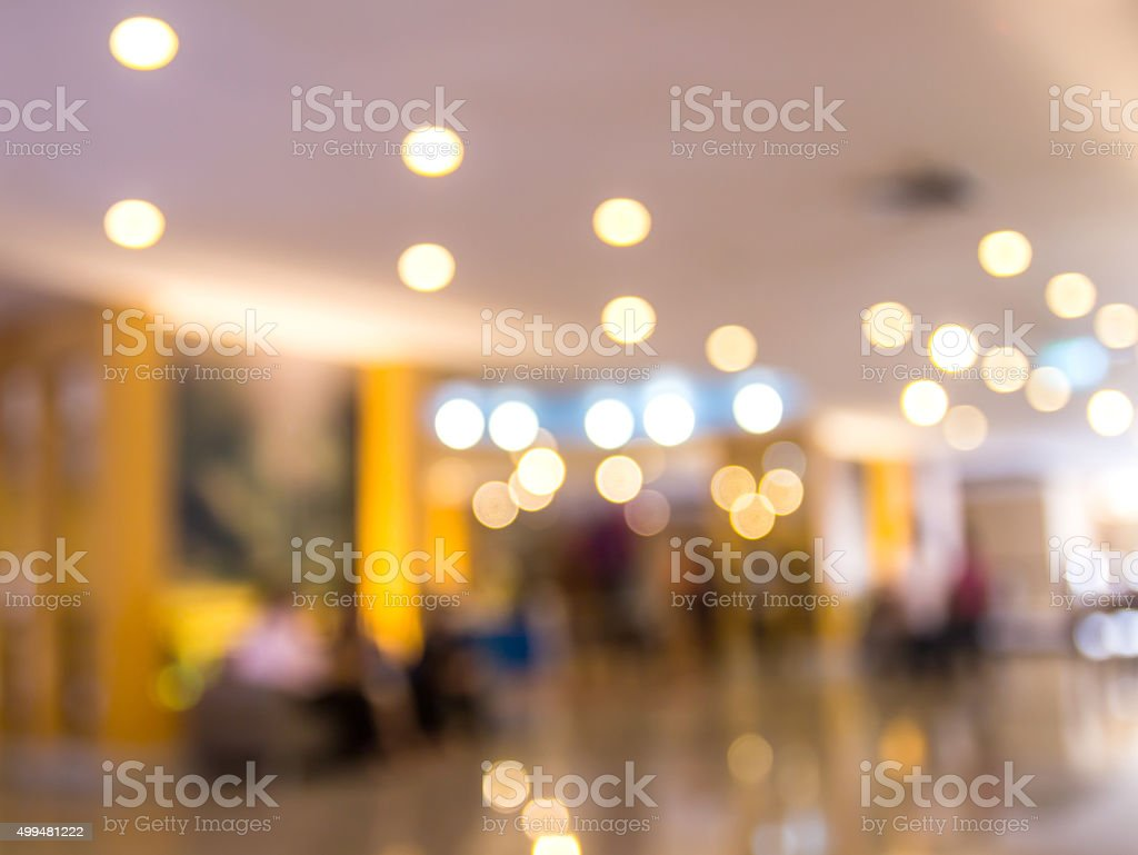 Image blurred of hotel lobby background stock photo