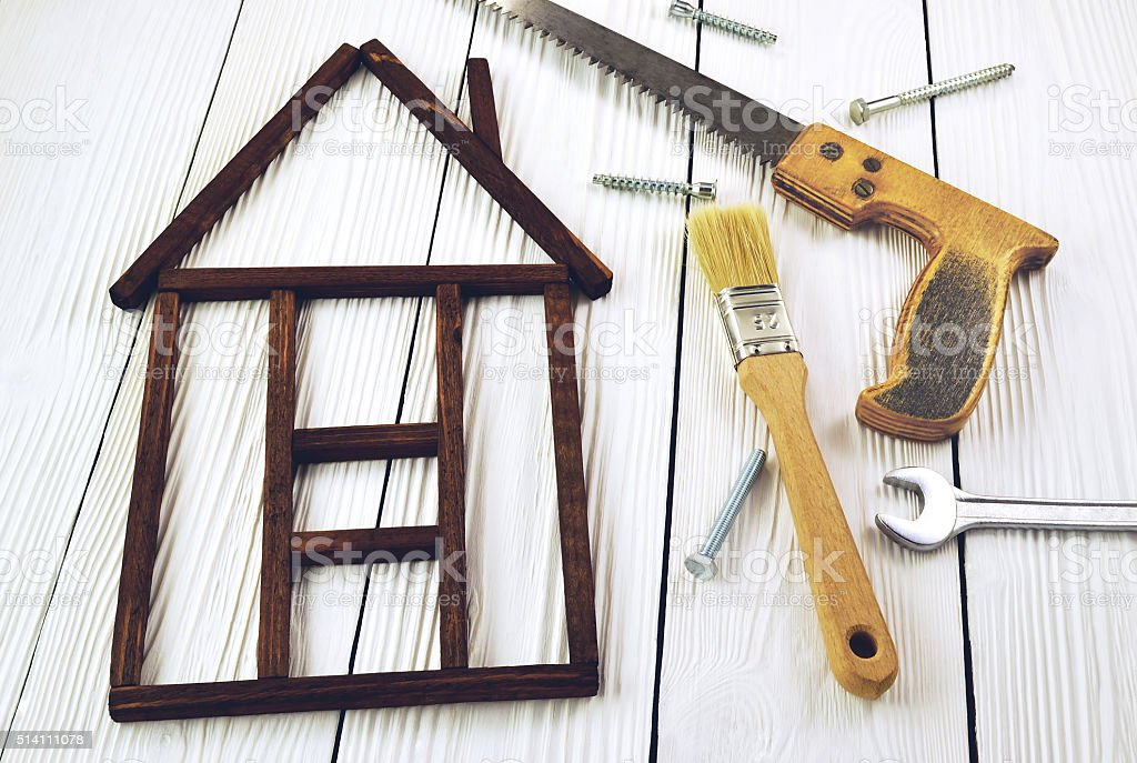 Image form of house stock photo