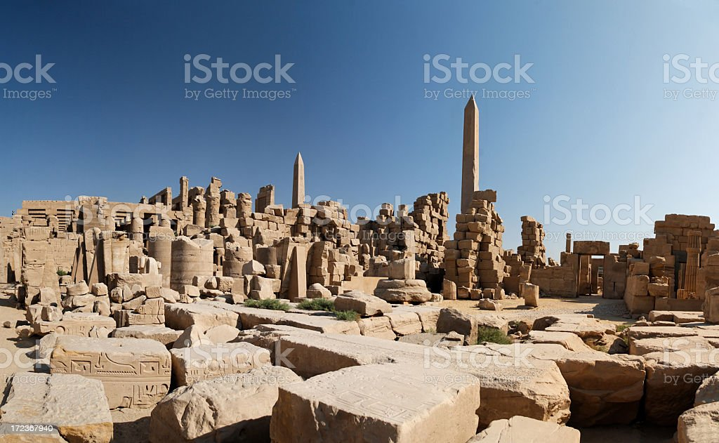 Image from inside the ruins of the Karnak temple royalty-free stock photo