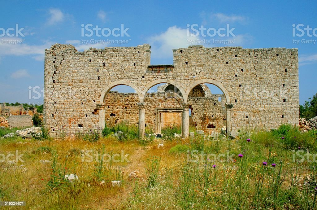 image from the ancient city, Conytellis royalty-free stock photo