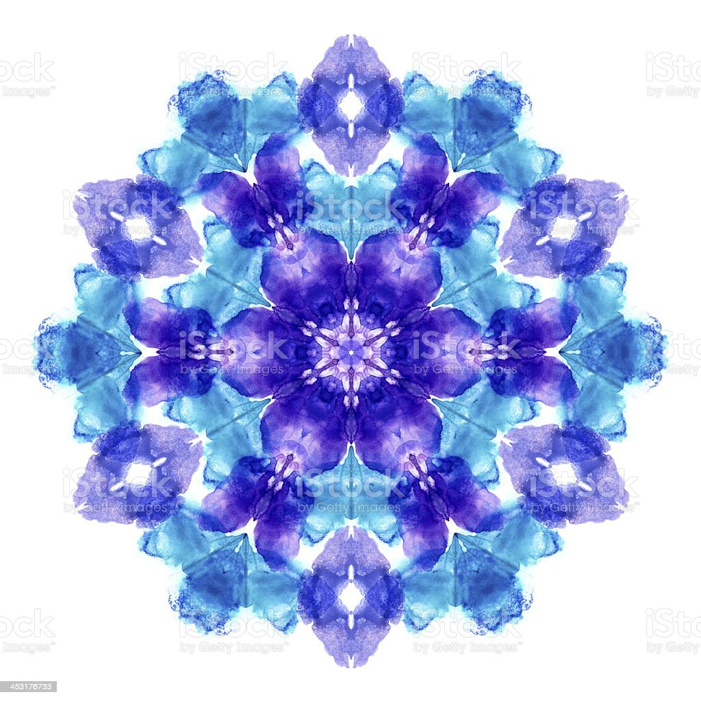 Image made from imprint watercolor spot stock photo