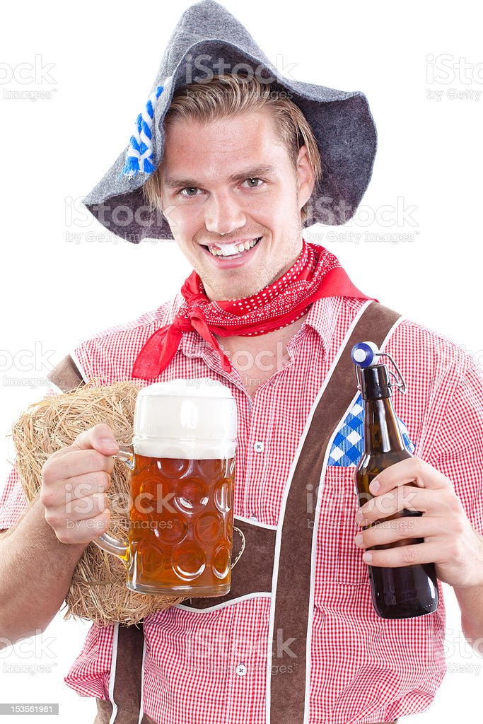 image of a bavarian man royalty-free stock photo