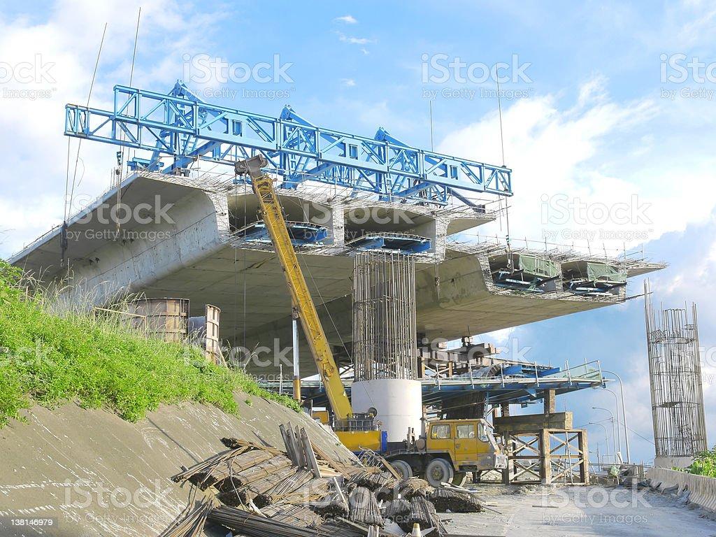 Image of a bridge under repair stock photo