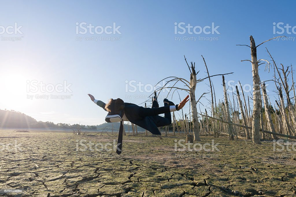Image of a businessman with vr headset stock photo