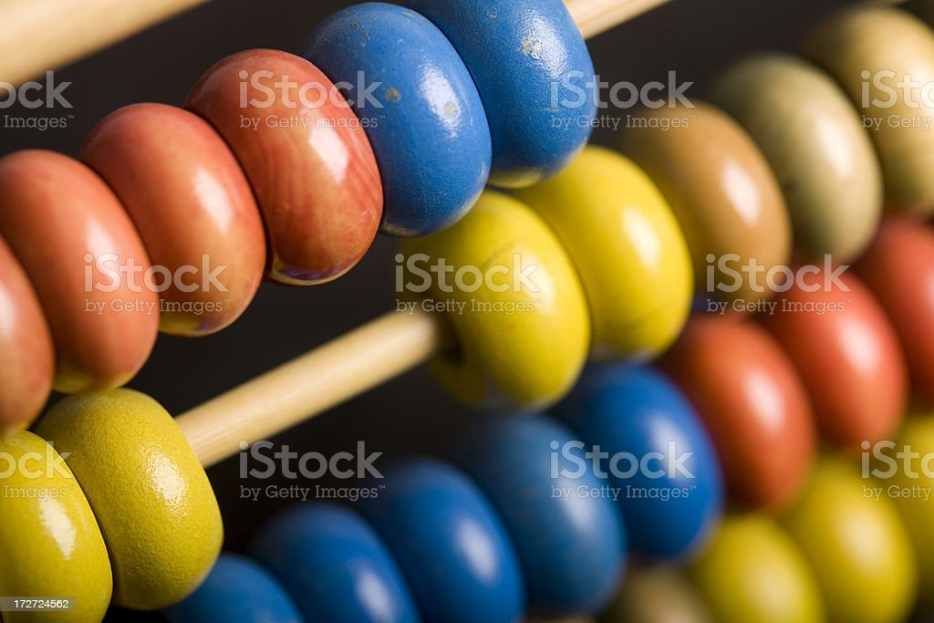 image of a Chinese abacus, calculating, finance royalty-free stock photo