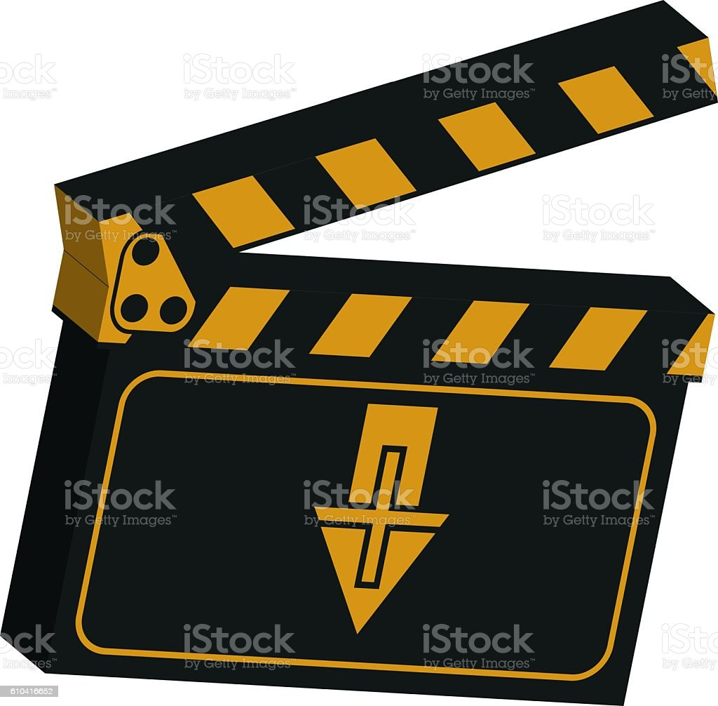 image of a clapboard stock photo