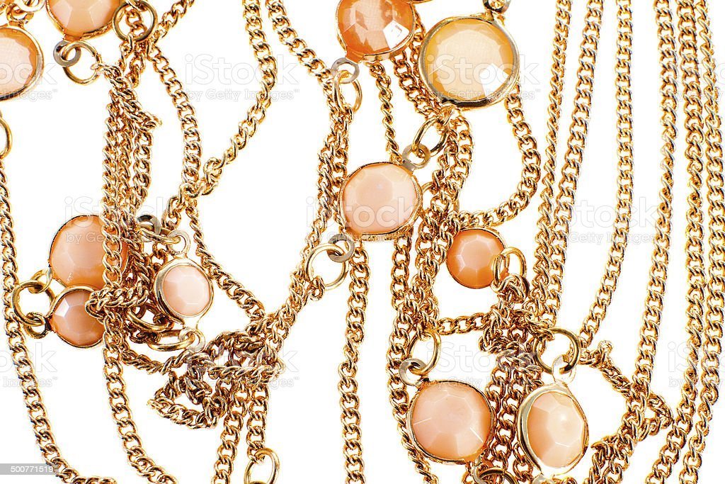 image of a female jewelry chain with stones stock photo