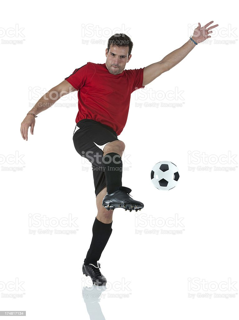 Image of a soccer player in action royalty-free stock photo