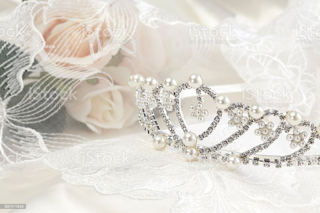 image of a wedding crown stock photo