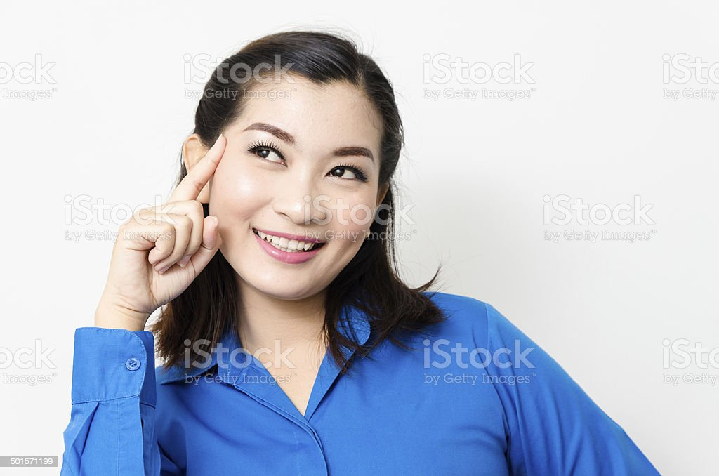 Image of a young asia woman with a lovely look stock photo