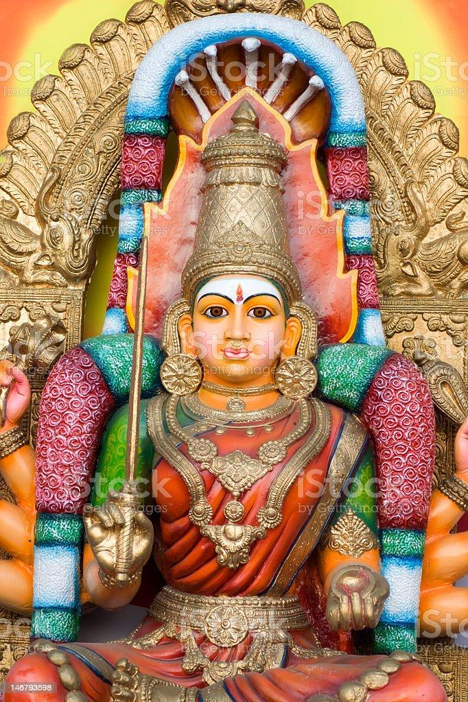 Image of an elaborately designed Hindu Goddess statue stock photo