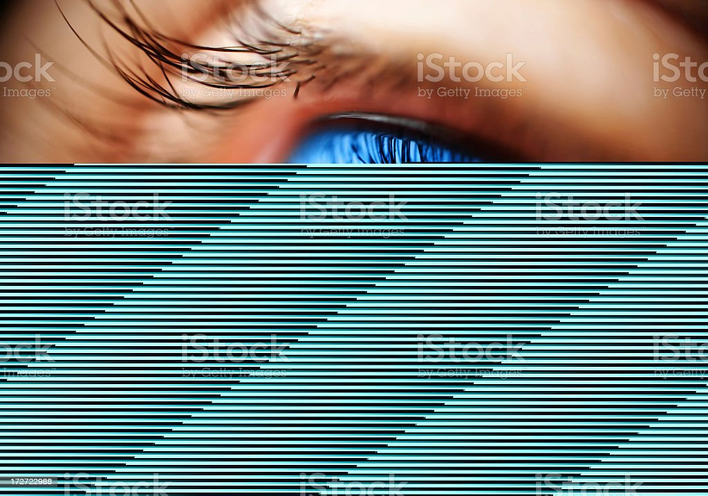 Image of an eye failing to load completely royalty-free stock photo
