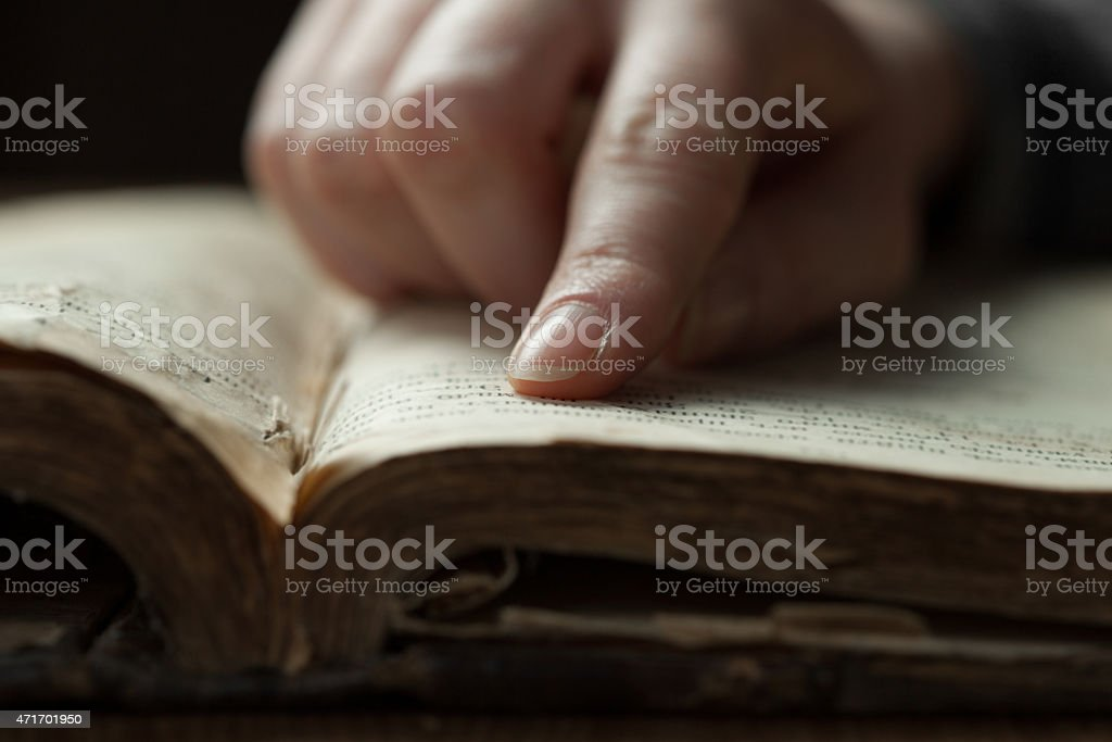 Image of an old Holy Bible stock photo
