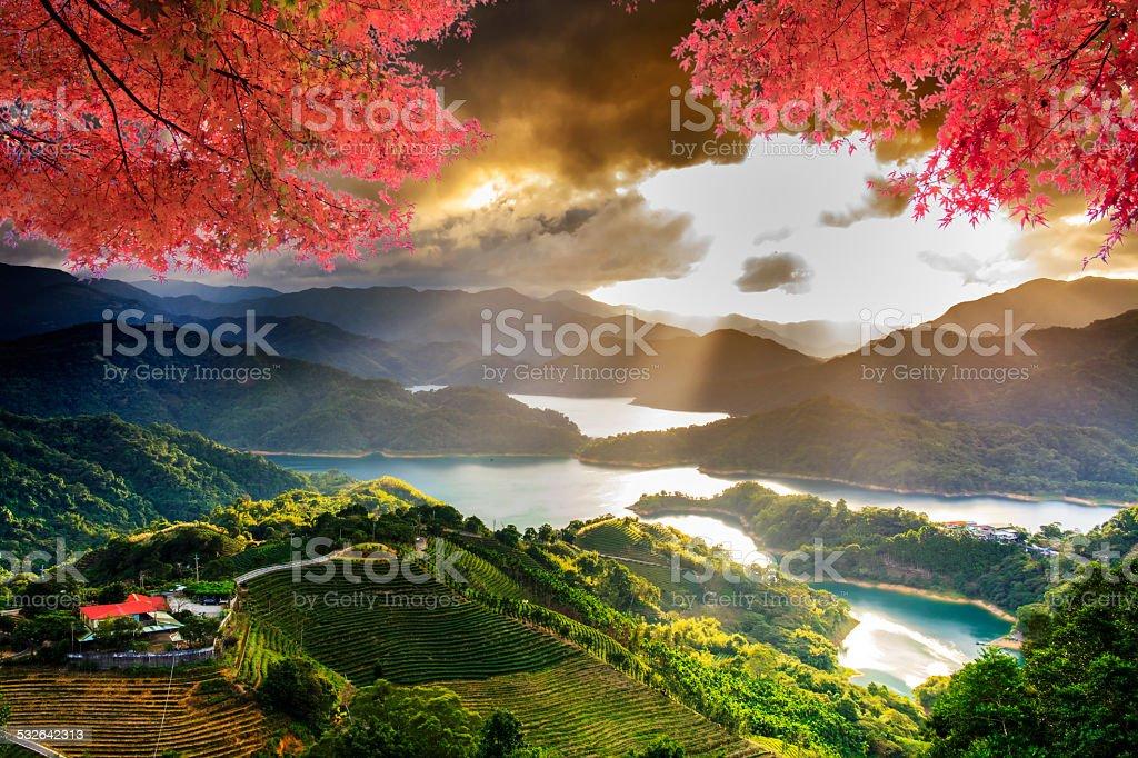 Image of beatiful landscape, Taiwan stock photo