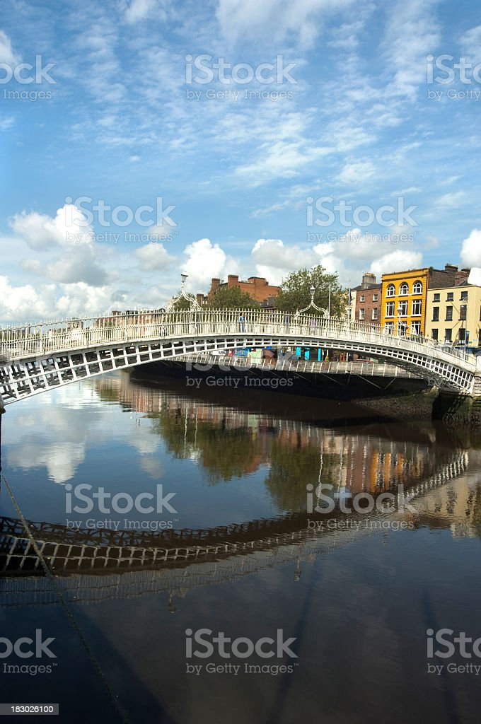 Image of bridge and water in Dublin stock photo