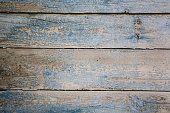 Image Of Brown And Blue Old Wooden Texture