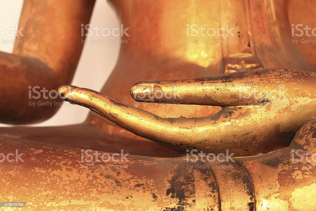 Image of Buddha Hand in Wat Pho stock photo