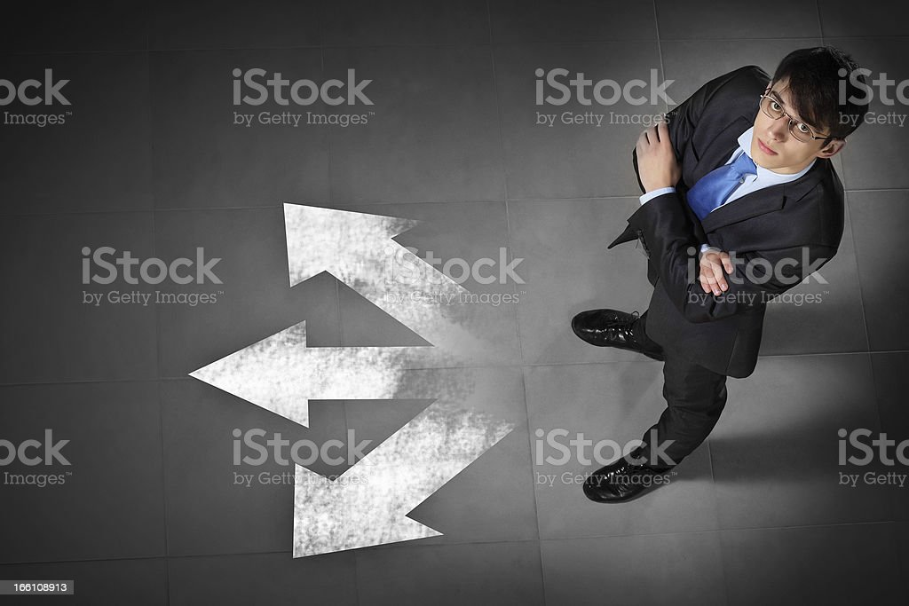 Image of businessman top view royalty-free stock photo