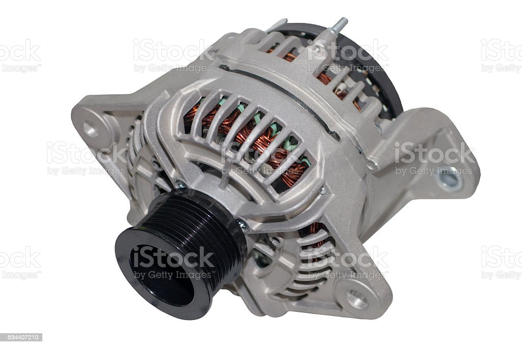 Image of car alternator isolated stock photo