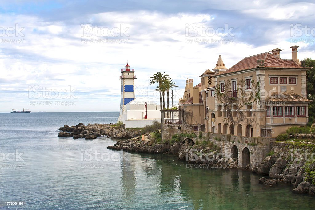 Image of Cascais on a bright day stock photo