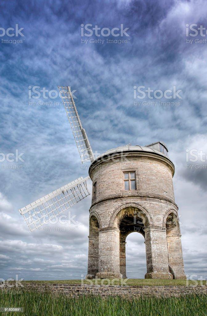 HDR image of Chesterton Windmill, Leamington, UK stock photo