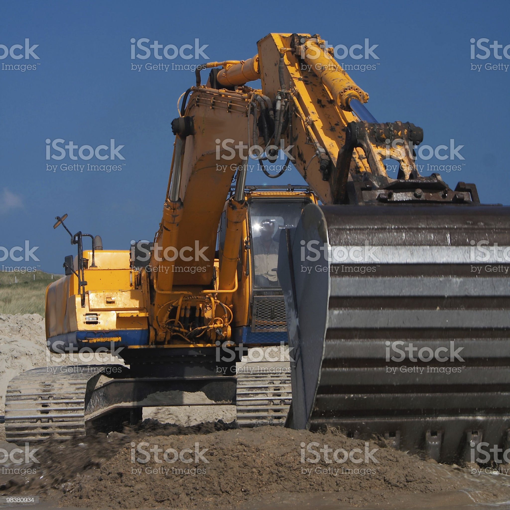 Image of construction equipment in action royalty-free stock photo
