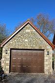 Image Of Detached Garage Upandover Garage Door Outdoor Security ...
