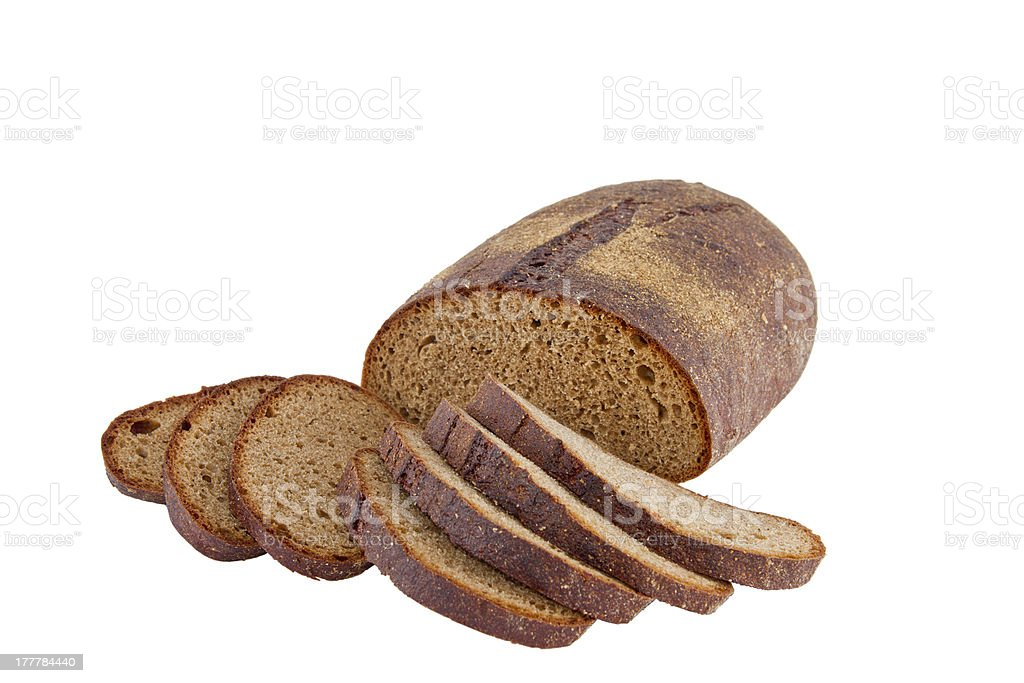 Image of dietary loaf  rye bread royalty-free stock photo